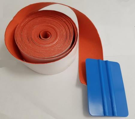 Фетр оранжевый натур. замша для выгонок (узкий) 2,5 см
