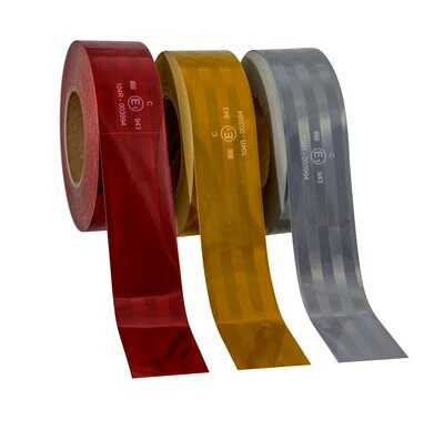3M™ Пленка Световозвращающая серия 943-72 для контурной маркировки ТС, красная, 50,8 мм х 50 м