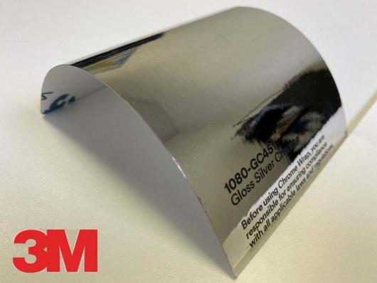3M™ Wrap Film 1080-GC451 Gloss Silver Chrome, 1,524х22,86м