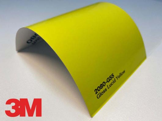 3M™ Wrap Film 2080-G55, Gloss Lucid Yellow, 1,524 * 22,86