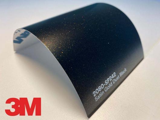 3M™ Wrap Film Series 2080-SP242, Satin Gold Dust Black, 1,524 * 22,86