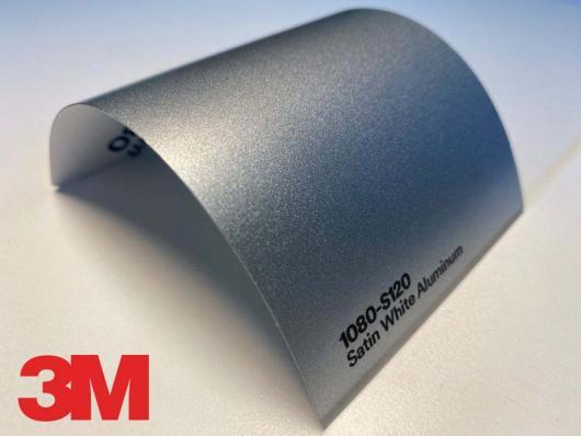 3M™ Wrap Film Series 1080-S120, Satin White Aluminum, 1,524*22,86