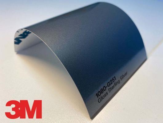 3M™ Wrap Film Series 1080-G251, Gloss Sterling Silver, 1,524*22,86