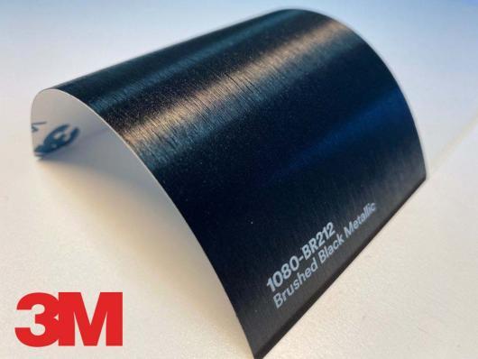 3M™ Wrap Film Series 2080-BR212, Brushed Black Metallic, 60 in x 25 yd