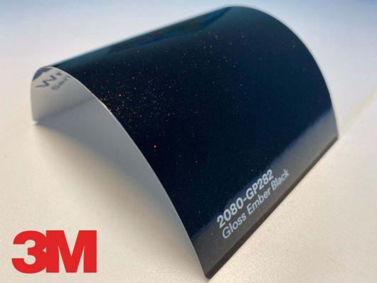 3M™ Wrap Film Series 2080-GP282, Gloss Ember Black, 60 in x 25 yd