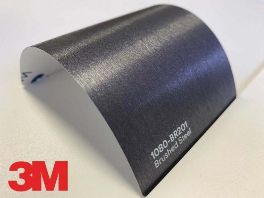 3M™ Wrap Film Series 2080-BR201, Brushed Steel, 60 in x 25 yd