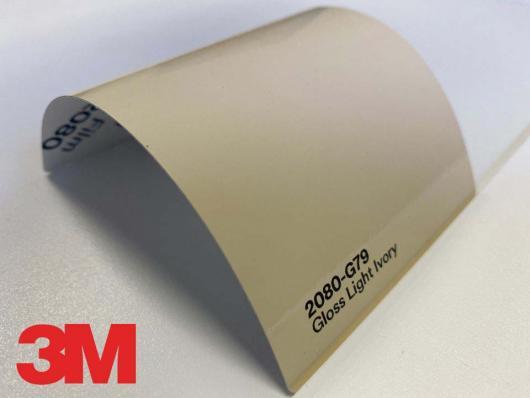 3M™ Wrap Film 2080-G79, Gloss Light Ivory, 60 in x 25 yd