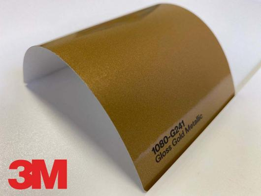 3M™ Wrap Film Series 1080-G241, Gloss Gold Metallic, 60 in x 25 yd